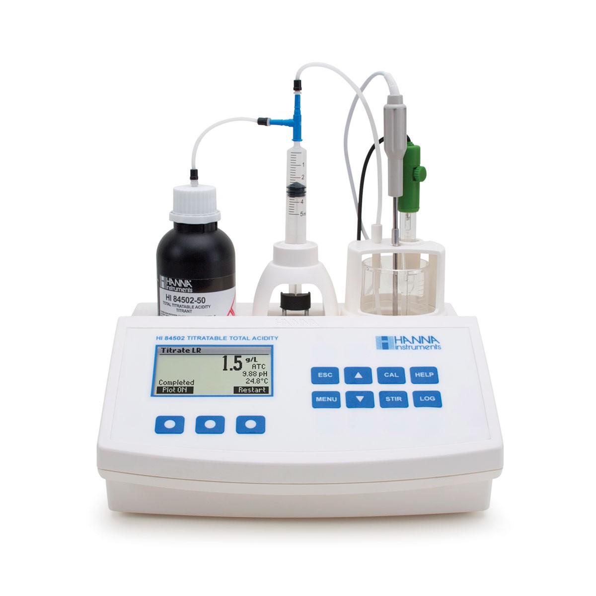 Thiết bị mini phân tích tổng nồng độ acid trong rượu HI84502 Hanna