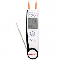 Máy đo nhiệt độ bằng hồng ngoại và đầu đo bằng thép không gỉ TLC 750i Ebro