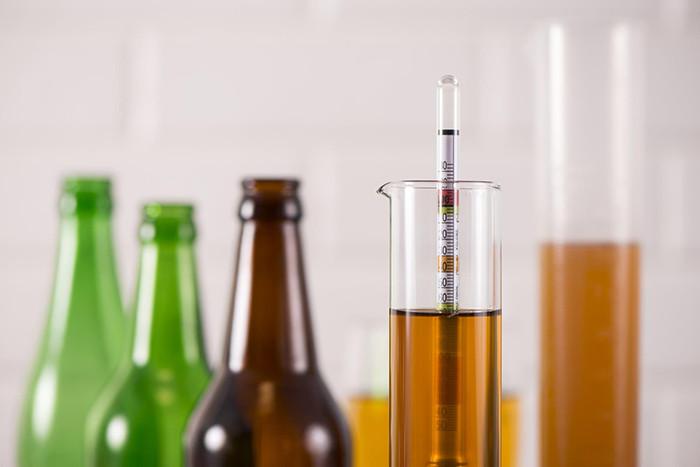 Cồn kế đo nồng độ rượu có vạch chia từ 0 – 1000