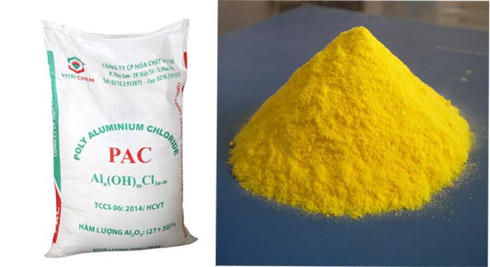 Hóa chất PAC được ứng dụng trong xử lý nước thải, nước ao nuôi, nước sinh hoạt,...