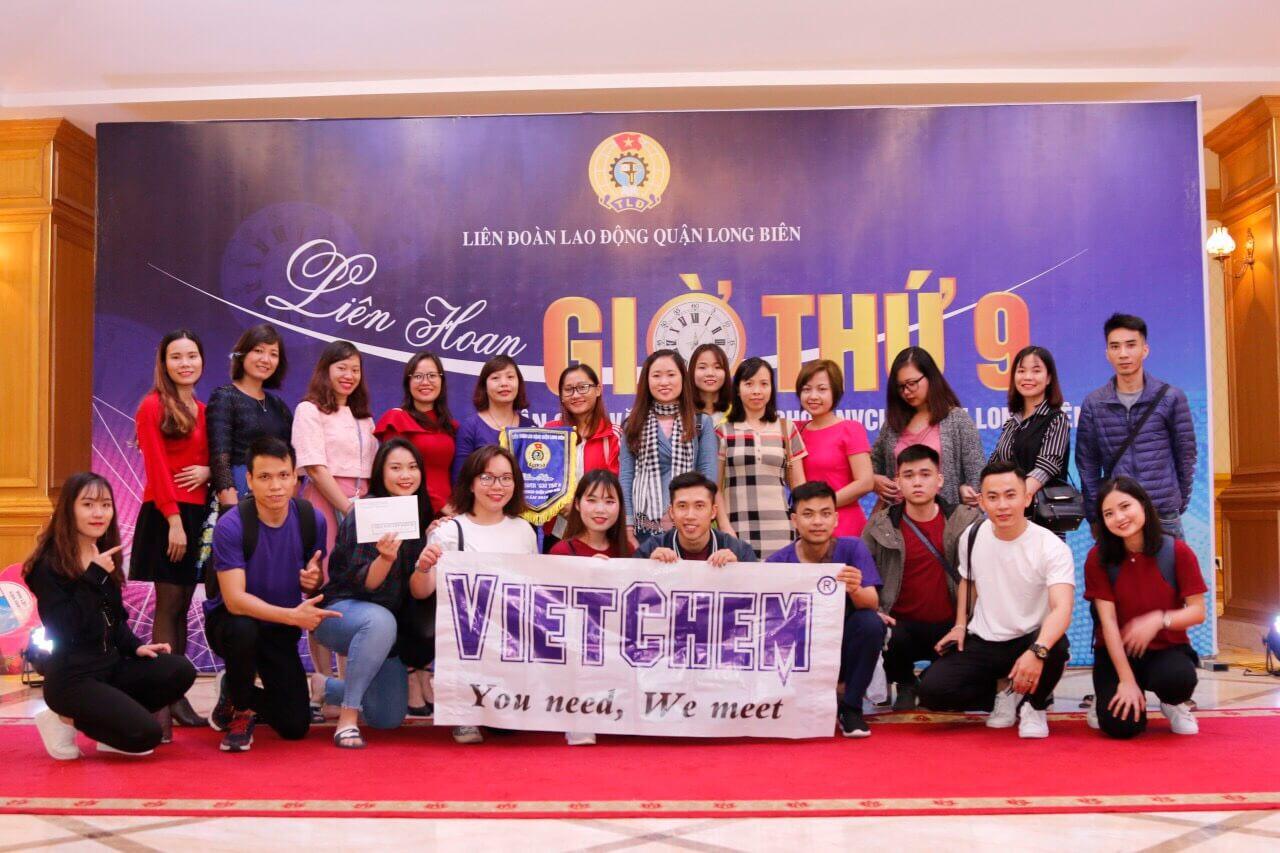 Hình ảnh công đoàn Vietchem tham gia biểu diễn giờ thứ 9