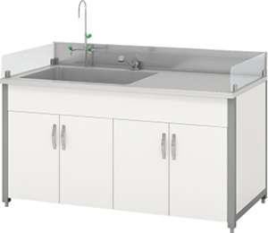 Bàn thí nghiệm có bồn rửa HMRT-STFN-1500 Hankook
