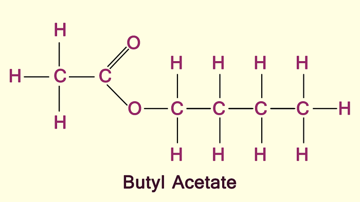 Công thức hóa học của Butyl Acetate C6H12O2