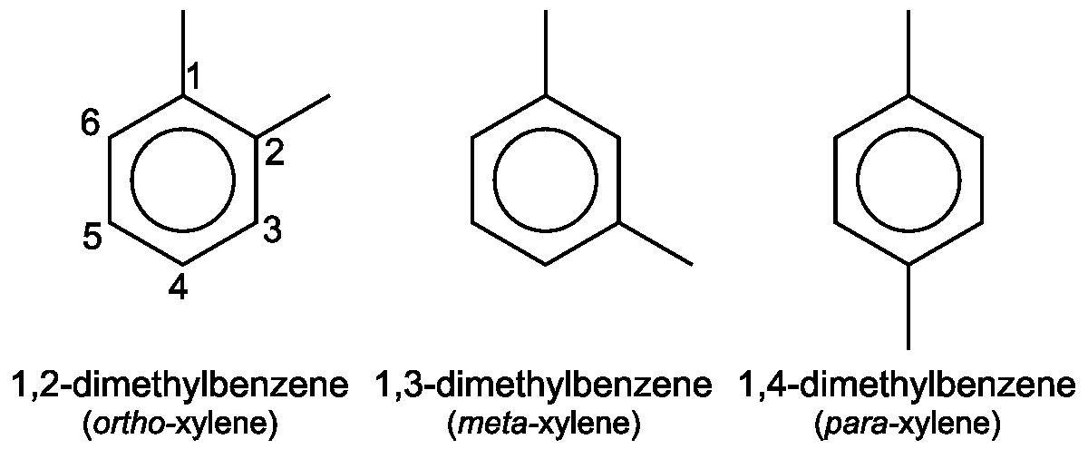 Các đồng phân của xylene