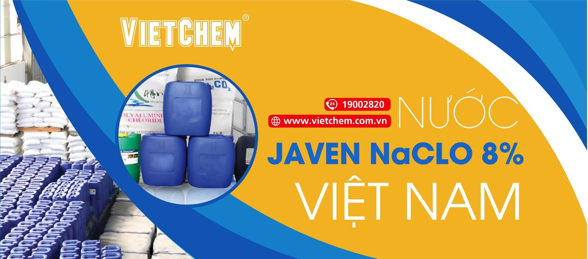 Nước Javen NaClO 8% Việt Nam