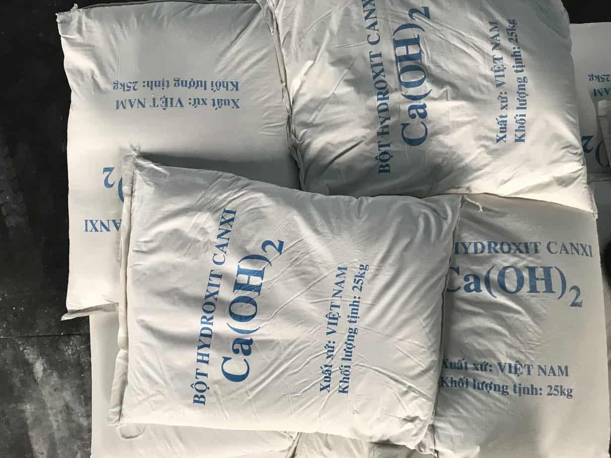 Bảo quản bột Canxi hidroxit