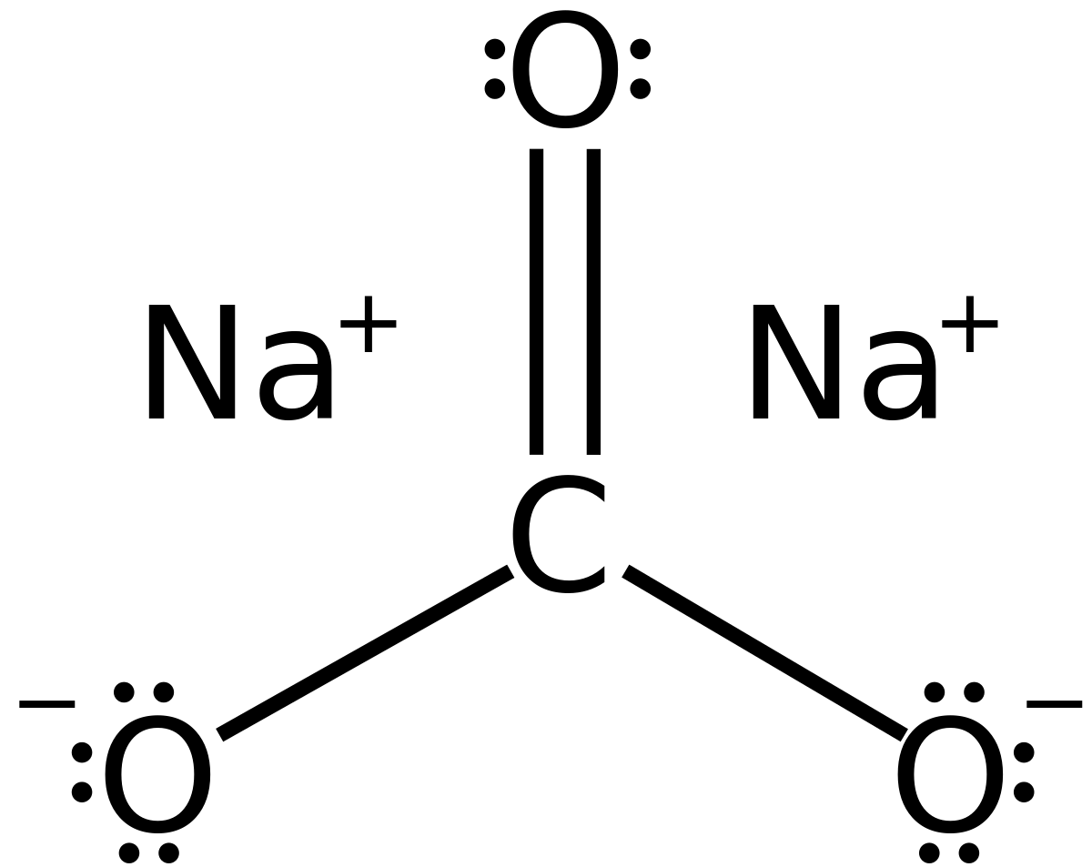Cấu trúc hóa học Natri cacbonat