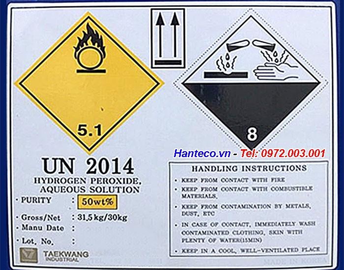 Hydrogen peroxid là chất nguy hiểm