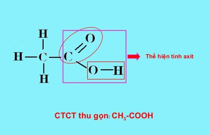 Nhóm cacboxyl COOH thể hiện tính axit
