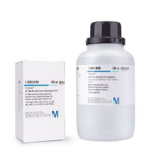 Titanium ICP standard traceable to SRM from NIST (NH₄)₂TiF₆ in H₂O 1000 mg/l Ti Certipur® 100ml Merck