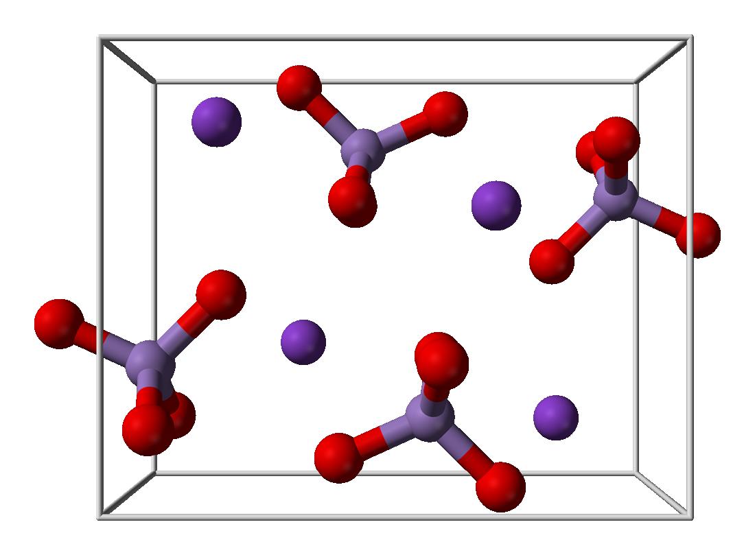 Cấu trúc phân tử của thuốc tím Kali pemanganat