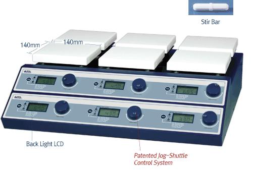 Hệ thống bếp điện có khuấy 6 vị trí 350℃ DH.WMH03506 Daihan