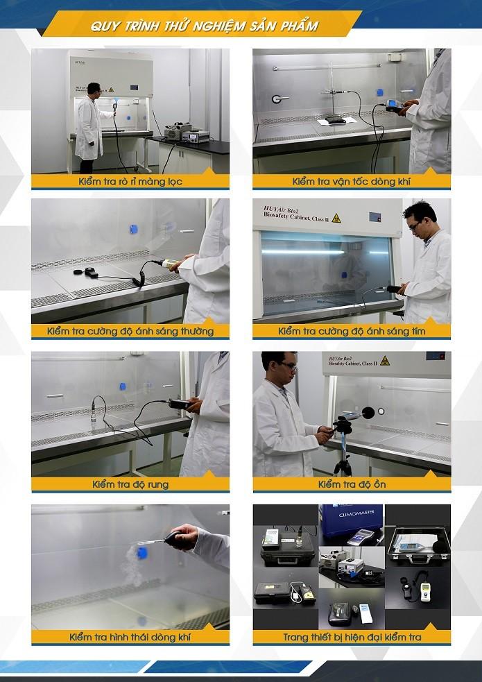 Kiểm tra tủ an toàn sinh học cấp II