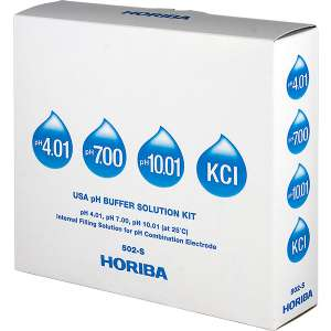 Bộ dung dịch chuẩn pH theo tiêu chuẩn USA, chai 250 mL (4.01 / 7.00 / 10.01 / KCl 3.33 M) Horiba