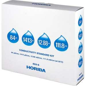 Bộ dung dịch chuẩn độ dẫn, chai 250 mL (84 uS / 1413 uS / 12.88 mS / 111.8 mS) Horiba
