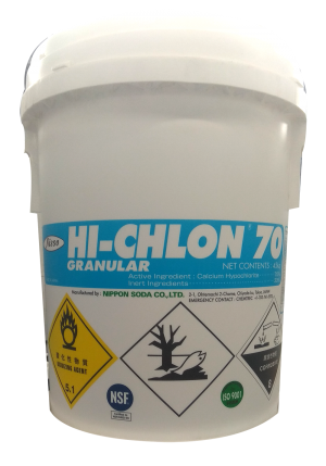 Chlorine Hi-Chlon Ca(OCl)2 70%, CN, Nhật, 45kg/thùng
