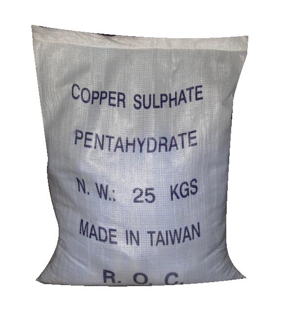 Copper Sulfate CuSO4 CN, Đl, 25kg/bao