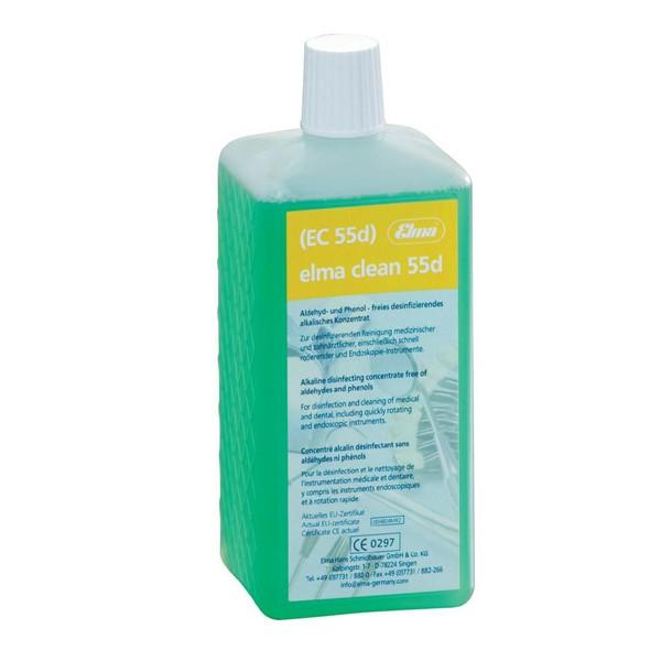 Dung dịch làm sạch dụng cụ nha khoa Elma clean 55 D, 1 lít