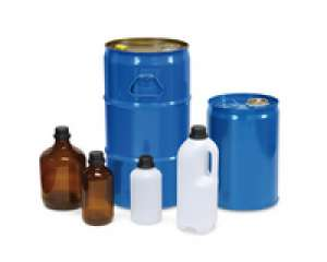 Glass bottles, 1 l with S 40 screw cap, in UN-approved transport box Merck