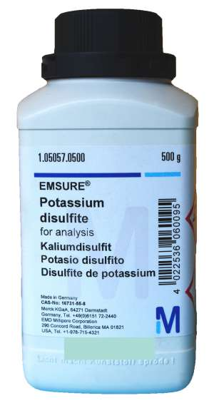 Potassium disulfite for analysis EMSURE®  500g Merck