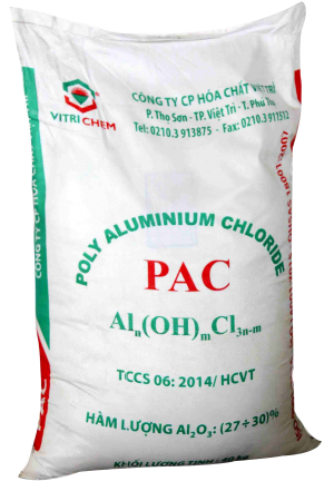 PAC bột 30% (Poly Aluminium Chloride), Việt Nam, 25kg/bao