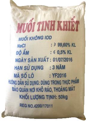 Sodium chloride 99% NaCl, Việt Nam, 50kg/bao
