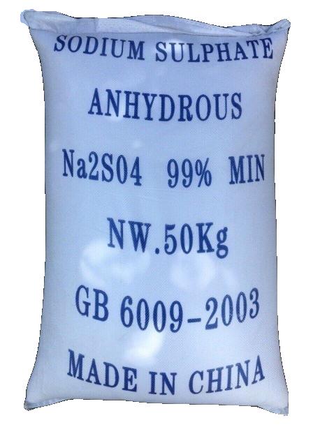 Sodium sulfate Na2SO4 99%, Trung Quốc, 50kg/bao