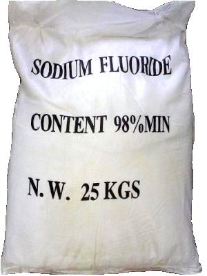 Sodium fluoride 98% NaF, Trung Quốc, 25kg/bao