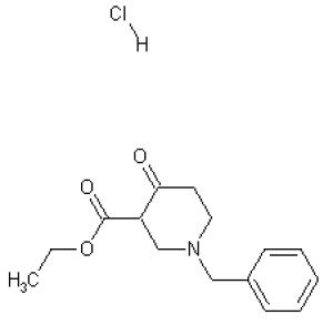1-Benzyl-3-carbethoxy-4-piperidone hydrochloride, 97% 25g Acros