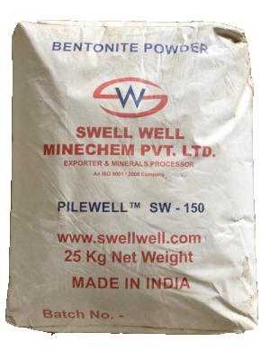 Bột Đất Sét Bentonite Ấn Độ, 25kg/bao