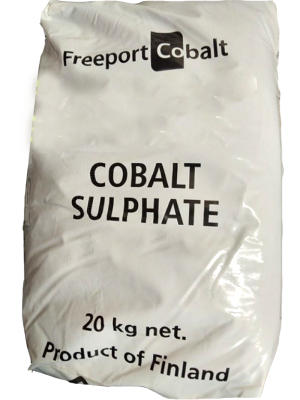 Cobalt sulphate heptahydrate CoSO4.7H2O 98%, Phần Lan, 25kg/bao