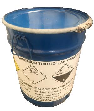 Chromic acid CrO3 99%, Trung Quốc, 50kg/thùng