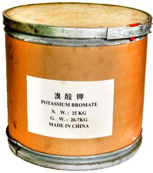 Potassium bromate KBrO3, Trung Quốc, 25kg/thùng