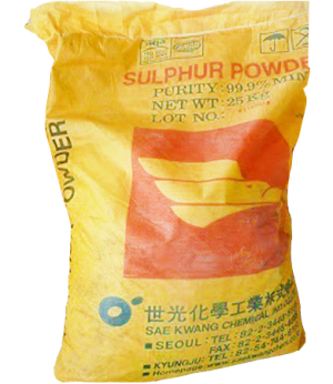 Sulfur S 99%, Trung Quốc, 25kg/bao