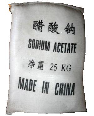 Sodium acetate 60% CH3COONa.3H20, Trung Quốc, 25kg/bao