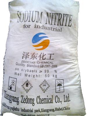 Sodium nitrite 99% NaNO2, Trung Quốc, 25kg/bao