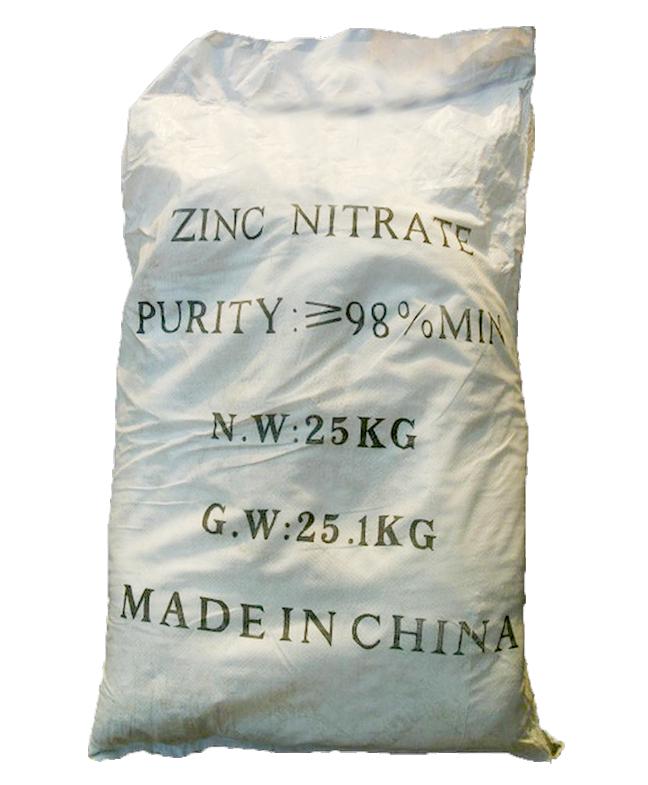 Zinc nitrate Zn(NO3)2.6H2O 98%, Trung Quốc, 25kg/bao