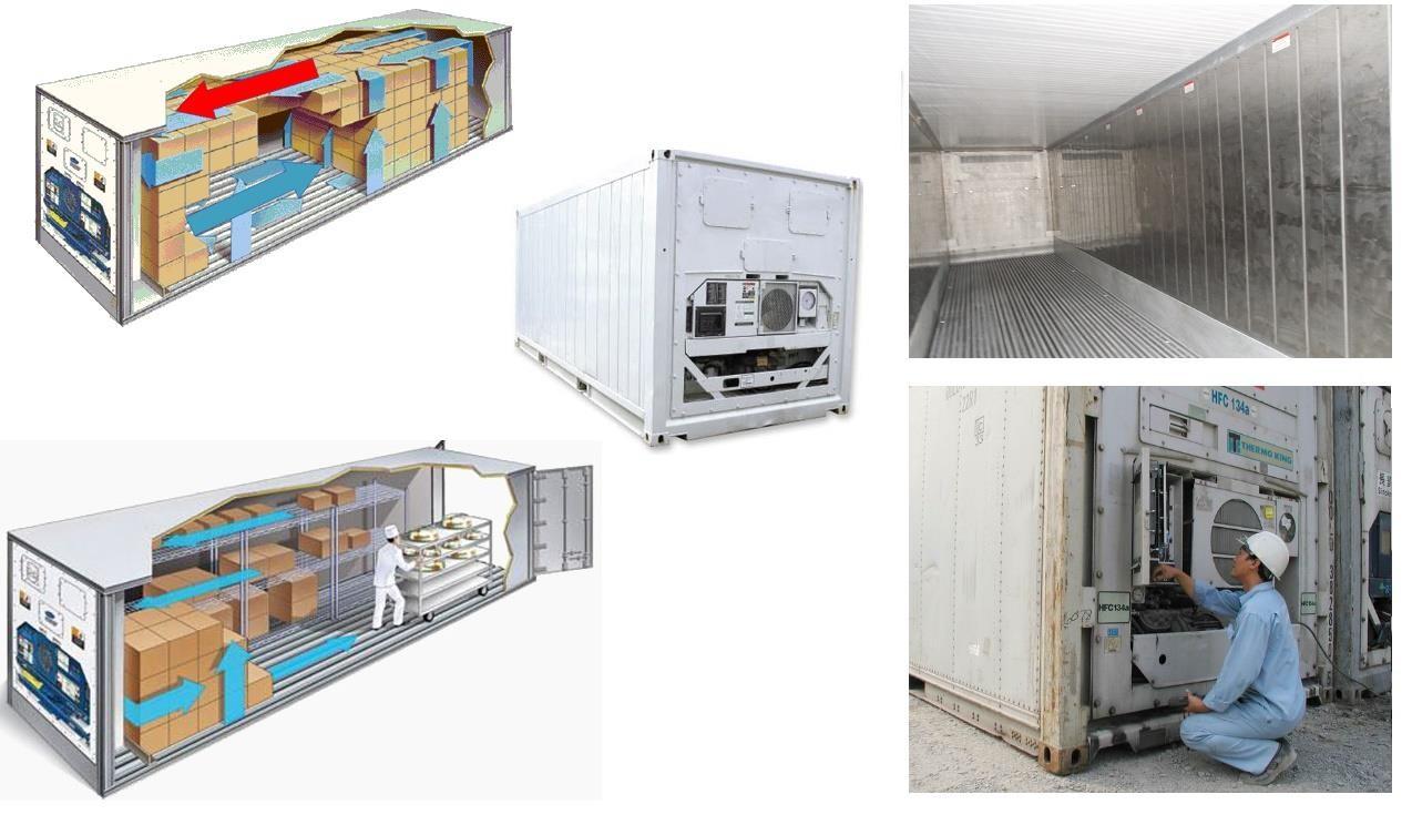 Đá khô dùng trong các kho container lạnh