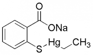 Ethylmercurithiosalicylic acid, sodium salt, 97.0-101.0% 100g Acros