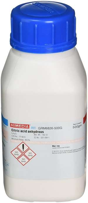 Citric acid anhydrous GRM6826-500G Himedia
