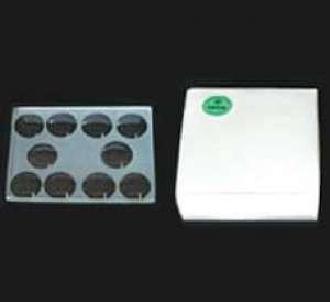 Kline Concavity Slides 10 Concavities Thickness: 3 mm, Size: 75 x 56 mm GW096-1PK Himedia