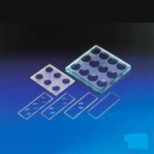 Kline Concavity Slides 6 Concavities Thickness: 3 mm, Size: 75 x 56 mm GW094-1PK Himedia