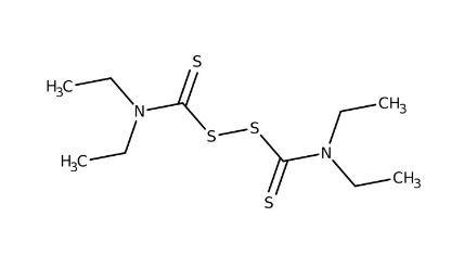 Tetraethylthiuram disulfide, 97% 25g Acros