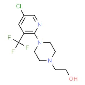 2-{4-[5-chloro-3-(trifluoromethyl)-2-pyridyl]piperazino}ethan-1-ol, 97% 250mg Maybridge