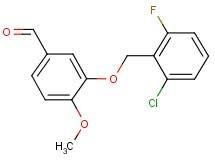 4-[(2-Chloro-6-fluorobenzyl)oxy]-3-methoxybenzaldehyde, 97% 1g Maybridge