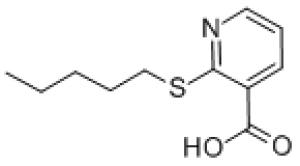 2-(Pentylthio)nicotinic acid, 97% 10g Maybridge