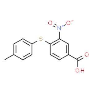 4-[(4-Methylphenyl)thio]-3-nitrobenzoic acid, 97% 1g Maybridge