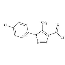 1-(4-chlorophenyl)-5-methyl-1H-pyrazole-4-carbonyl chloride, 97% 250mg Maybridge