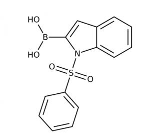 1-(Phenylsulfonyl)-1H-indol-2-ylboronic acid, 97%, May contain varying amounts of anhydride 1g Maybridge