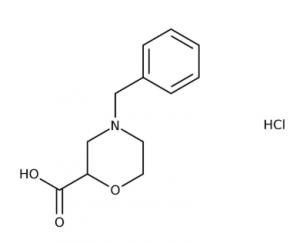 4-Benzyl-2-morpholinecarboxylic acid hydrochloride 97%, 250mg Maybridge